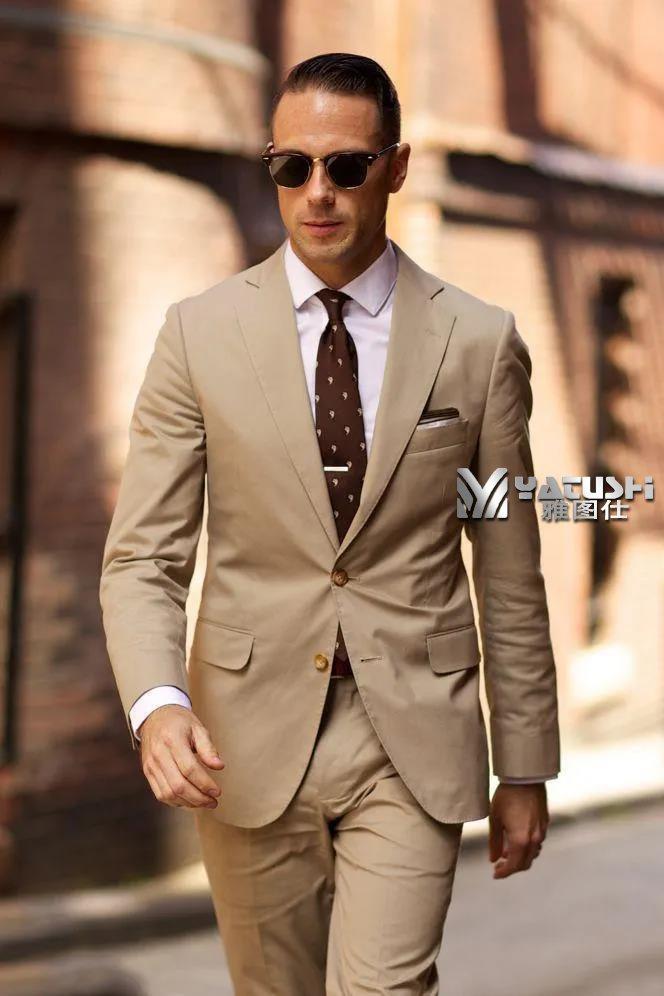 春季西服尽显定做西装男士温润气质