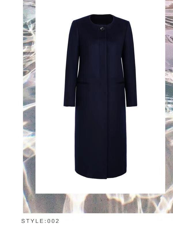 高级纯色修身长款定制大衣